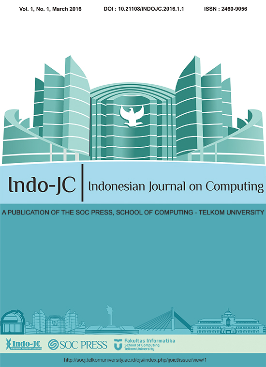 Indonesian Journal on Computing Volume 1, Issue 1, March 2016